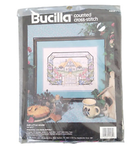 """Bucilla Counted Cross Stitch 40581 Our Little House 14"""" x 11"""" Lorna McRoden"""