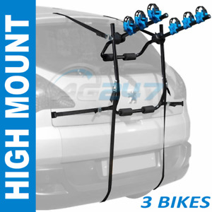 Summit SUM-601 Rear Car 4x4 Hatchback Boot High Mount 3 Bikes Cycle Carrier Rack