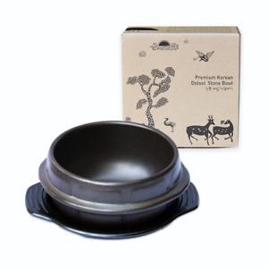 Crazy Korean Cooking Korean Stone Bowl Dolsot, Sizzling Hot Pot for Bibimbap and