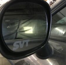 SVT Cobra Ford Etched / Frosted Look Mirror Glass Decal Stickers ~ Set Of 2