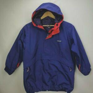 Vintage Patagonia Anorak Pullover Jacket Windbreaker Boys Girls 8 Purple Hooded