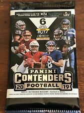 2019 CONTENDERS FOOTBALL SEALED HOBBY PACK. 5 AUTOS PER BOX 🔥🔥🔥