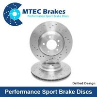 BMW 3 E90 E91 E92 E93 335i 335d 09/06- Drilled Only Front Brake Discs 348mm