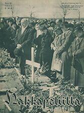 Finland Wartime Magazine Hakkapeliitta 1940 #21 - WWII - Soldiers' Graves