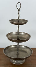 Unbekannt (20th), Etagere mit drei runden Schalen, versilbert, Silber