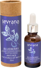 NIGHT SERUM FOR FACE AND EYE AREA BLACKBERRY ANTI-AGE LEVRANA 30ML