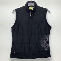 LOLe Size Large L Women's Down Vest flower Full Zip fleece