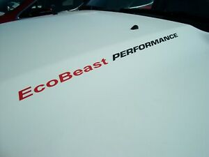 EcoBeast PERFORMANCE (2x)  Hood decals Ford F150 Mustang Explorer Focus Edge