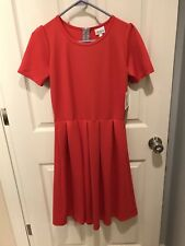 LuLaRoe Red/Orange/Pink Amelia Dress Size Small FREE shipping!!