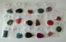 Natural Stone Pendants Pre Drilled Agate, Jasper Jewellery Making Necklaces x 17