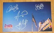 2015 Atlanta Braves signed Caravan Photo Card Wood Hale Outman Cunningham