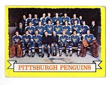 1X PITTSBURGH PENGUINS TEAM PIC 1973 74 Topps #104 VGEX