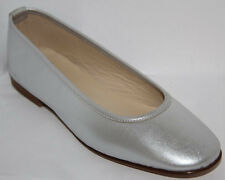 NEW Patricia Green SIZE 6 Silver Metallic Leather Flats