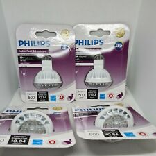 4 - Philips 7w Indoor Flood & Landscape MR16 GU5.3 Dimmable Warm White LED Bulbs
