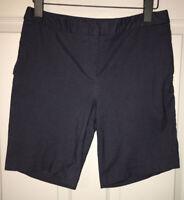Mario Serrani Italy Denim Like Stretch Flat Front Bermuda Shorts Sz 4