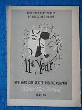 What Every Woman Knows - NY City Center Theatre Playbill - December 22nd, 1954