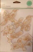 Martha Stewart Crafts BIRDS Bird Clear Rubber Stamps - New In Package