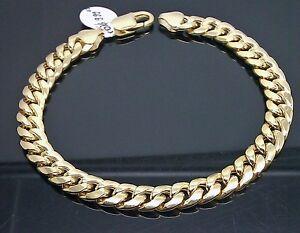 10k Yellow Gold Miami Cuban Bracelet Real Solid Gold 6mm Link 7 inch Men Women