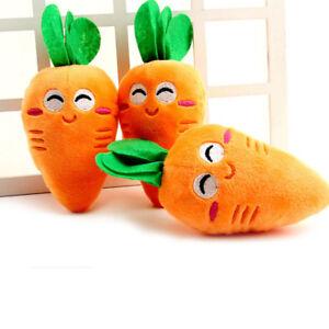 Orange Puppy Pet Supplies Carrot Plush Chew Squeaker Sound Squeaky Dog Toys Gift