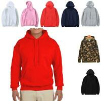 Women Men Casual Hooded Long Sleeve Solid Drawstring Pullover Hoodie CLSV 02