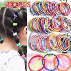 100PCS Girl Ponytail Holder Head Rope Baby Kids Elastic Rubber Hair Bands Ties