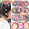 100PCS Rubber Ties Girl Ponytail Holder Hair Rope Baby Kids Elastic Hair Bands