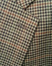 NEW Ralph Lauren 44R Orange Green Houndstooth PLUSH Tweed Blazer Jacket Sport