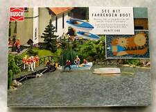 BUSCH 5480 HO GAUGE LAKE WITH ELECTRIC POWERED BOAT motorised NEW POST FREE