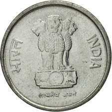 [#464292] INDIA-REPUBLIC, 10 Paise, 1996, MS(65-70), Stainless Steel, KM:40.1