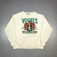 Vintage 1991 VOGELS BIERGARTEN FRANKFURT Mens Jumper XL | Sweatshirt Delta