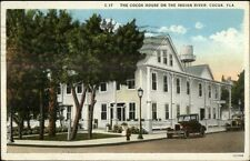 Cocoa FL House on Indian River c1920s Postcard