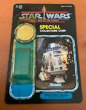 Original Kenner Star Wars Power Of the Force R2-D2 card back bubble coin exc