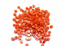 LEGO Red Brick Modified 1x1 Stud on 1 Side Lot of 100 Parts Pieces 87087