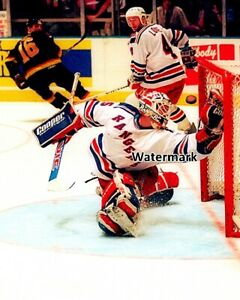 NHL 1994 Mike Richter New York Rangers Game Action  Color 8 X 10 Photo Picture