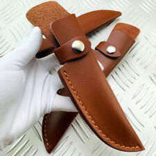 1X Cowhide Portable Leather Straight Knife Sheath Pouch Cover For Fixed Blade