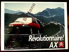 Affiche repro Automobile Citroen  AX Revolutionnaire
