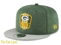 New NFL Green Bay Packers New Era Official Sideline Road 9FIFTY Snapback Cap Hat