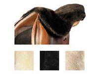LeMieux LAMBSKIN Soft SEAT SAVER Dressage/GP/Endurance Brown/Natural/Black/Taupe