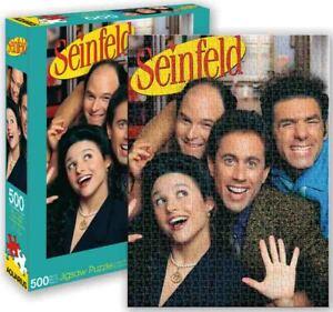 500 piece Jigsaw Puzzle Cult TV Sitcom SEINFELD Cast Licensed AQUARIUS Jerry