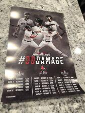 2018 POSTSEASON BOSTON RED SOX # DO DAMAGE POSTER 11x17 WORLD SERIES LTD EDITION