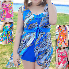 V Neck Floral Regular Size Swimdress for Women