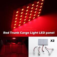 2pcs Panel Red 36 SMD LED 1206 Car Interior Dome Reading Light Bulbs Lamp