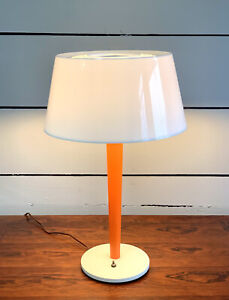 Mid Century Orange Table Lamp by Gerald Thurston for Lightolier