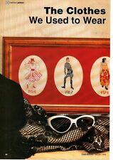 FASHION PLATES 1954-1992 by Denise Roberts Cross Stitch pattern from magazine
