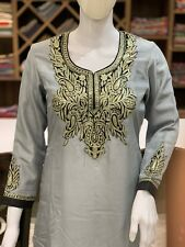 Zari Embroidered Kashmiri Suit Women Dress Indian Ethnic Wear Salwar Kameez
