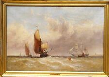 Fine 19th siècle anglais Medway Maritime Marine Peinture à l'huile George Stainton