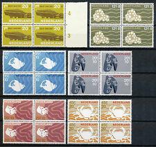 Nederland  876 - 881 in postfrisse blokken van vier