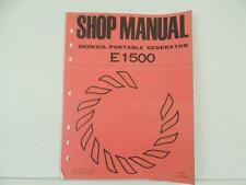 Vintage 1973 Honda Portable Generator Shop Manual E1500 Book L5089