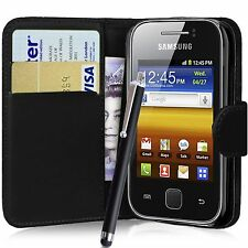WALLET FLIP PU LEATHER CASE COVER POUCH FOR SAMSUNG GALAXY Y GT-S5360 S5363