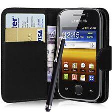 Billetera Flip De Cuero Pu Funda Protectora Pouch Para Samsung Galaxy Y Gt-s5360 S5363